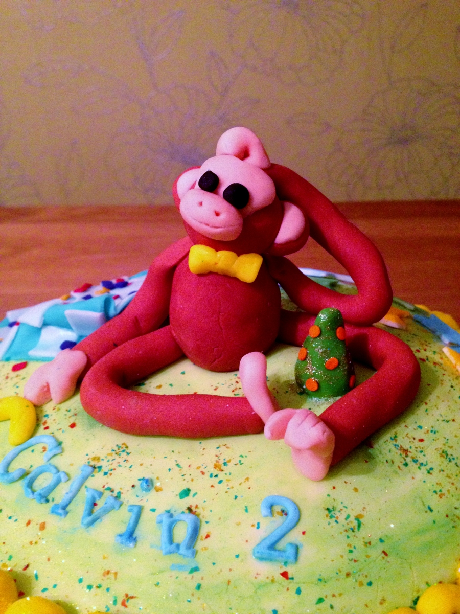 Monkey Birthday Cake, Sam Loves Cake