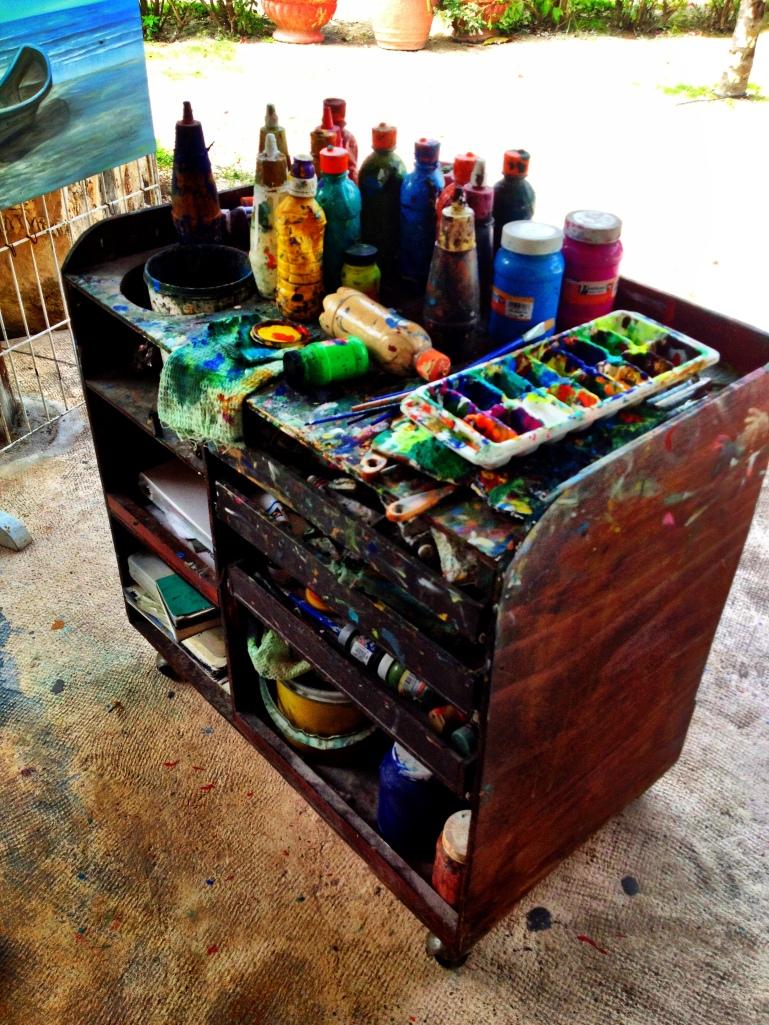 Artist's bench