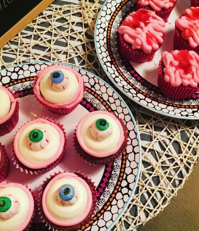 Photo of Halloween cupcakes.